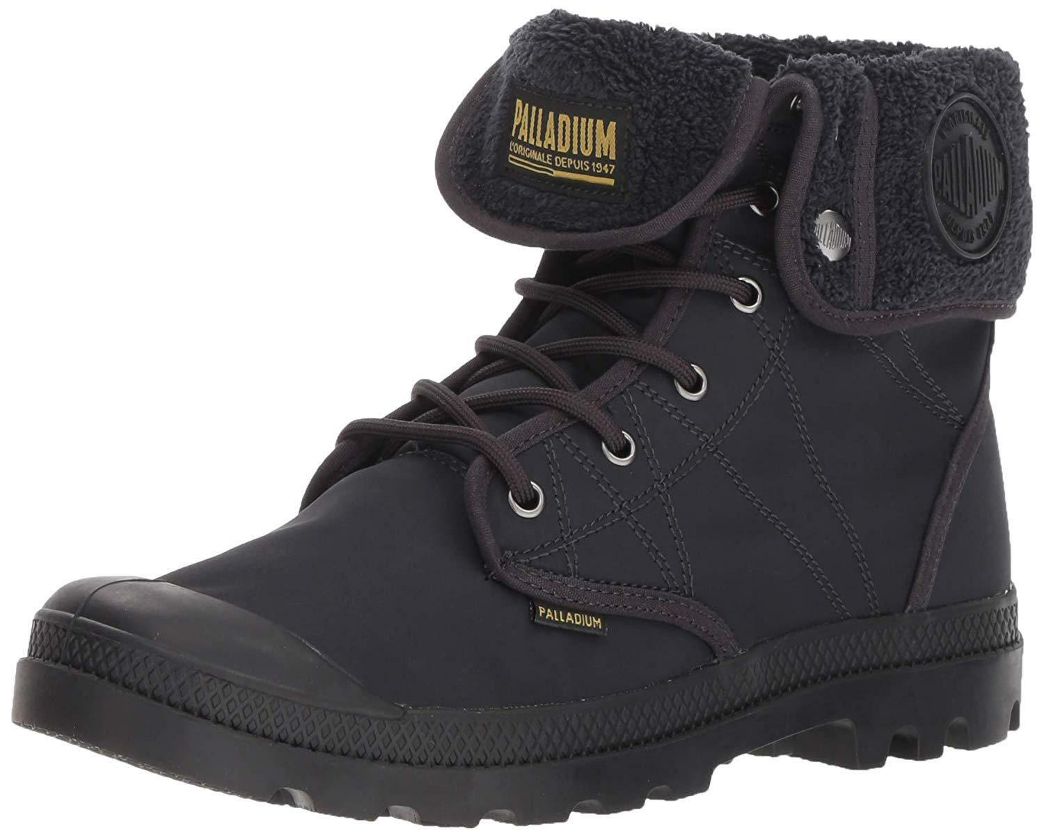 Men's Palladium Boots Pallabrousse Baggy TX Nylon Anthracite   Black 75978-003-M
