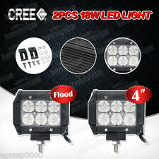 "4""inch 18W CREE LED Light Work Bar Flood / Spot Beam Fog ATV SUV Driving Lamp 2x"