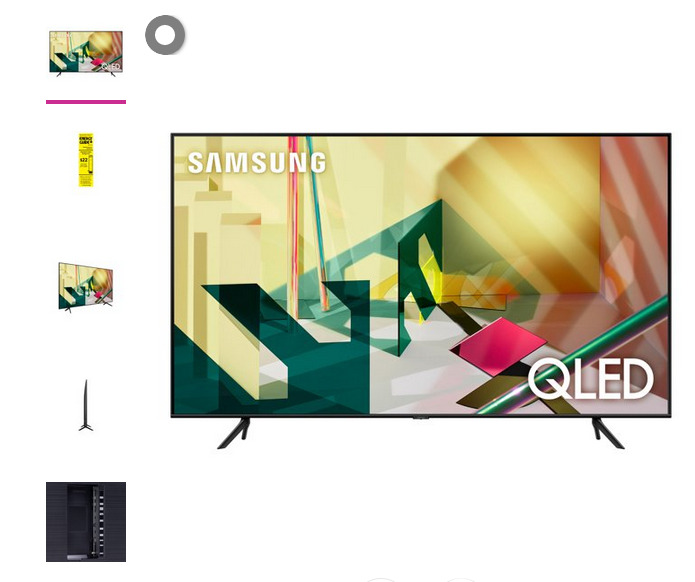 "SAMSUNG 75"" Class 4K Ultra HD (2160P) HDR Smart QLED TV QN75Q70T 2020. Available Now for 900.00"