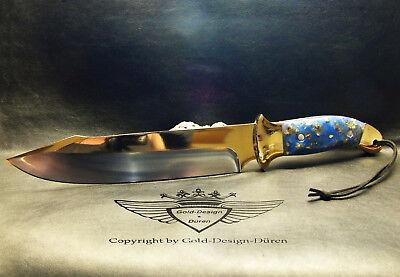 Jagdmesser XXL,Sammlermesser, Unikat, 24 Karat vergoldet,Messer, Neu