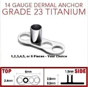 14g Grade 23 Titanium 3 Hole Anchor Dermals