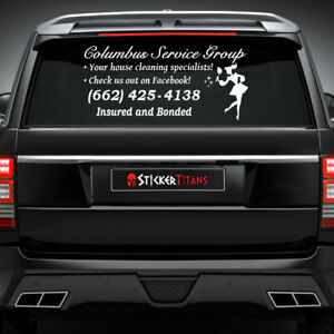 Custom Door Decals Vinyl Stickers Multiple Sizes Cleaning Services Name Number Website Business Cleaning Services Outdoor Luggage /& Bumper Stickers for Cars Blue 54X36Inches Set of 2