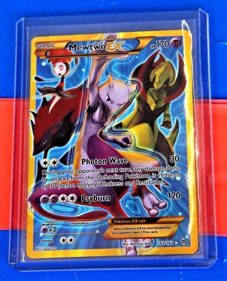 Pokemon Mewtwo EX 163/162 Blue
