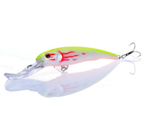 "1PCS Big Minnow Fishing Lures Deep Sea Bass Lure Wobbler Fish Swim 26.5g//6.5/"""