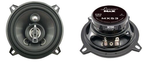 NEW Lanzar MX53 5.25/'/' 140 Watts 3 Way Triaxial Speakers