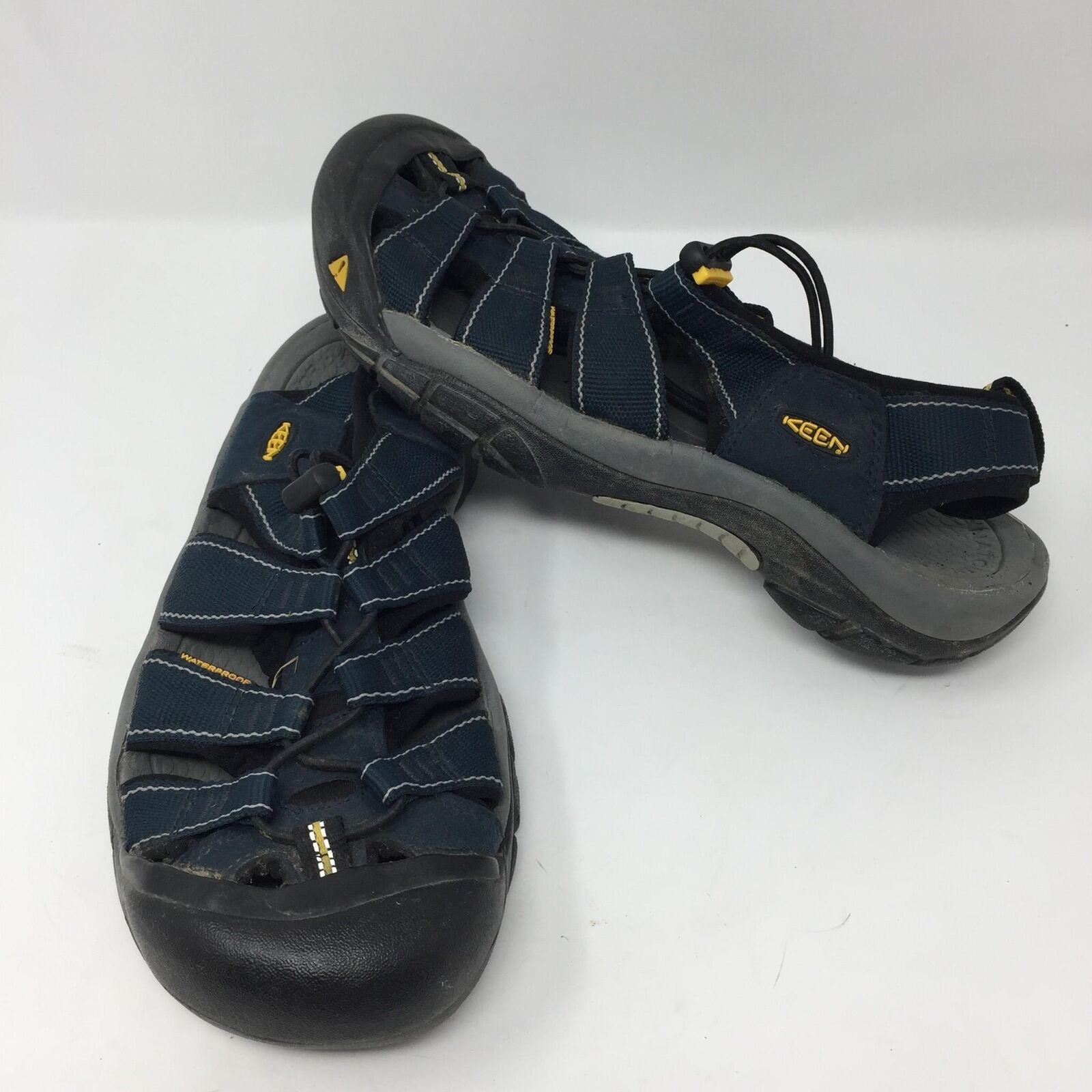 Keen Hiking Waterproof bluee Sandals Sz 9 Footbed Outdoor Trek Hike Trail