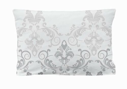 etérea Microfaser Kissenbezug Kissenhülle Ornamente Silber Grau Weiß 40x80 cm