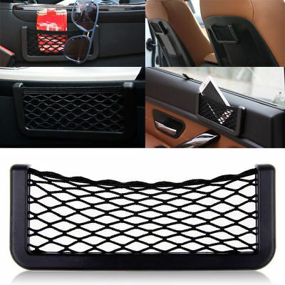 Car Storage Mesh Net Resilient String Phone Holder Pocket Organizer Universal