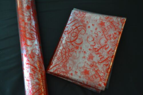 Christmas Cellophane for Present Gift Wrapping or Hampers CHOOSE DESIGN