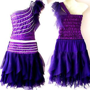 Madchen Damen Cheerleader Kostum Kleid Fasching Cosplay Dress Lila