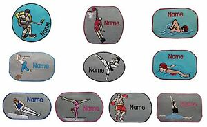 Indoor-Sport-Sew-on-Iron-on-Sticker-Personalised-embroidered-name-badge-patch
