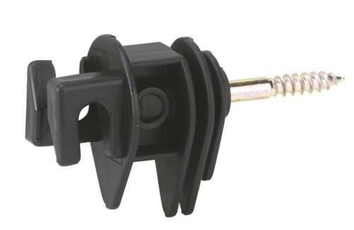 Pradera seilisolator con madera rosca Kerbl cuerda cordel 25 unidades negro