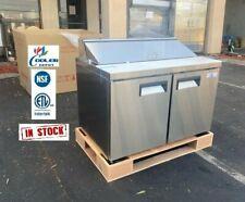 New 48 Commercial Sandwich Prep Table Refrigerator With 12 Storage Bins Nsf Etl