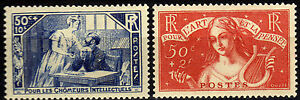 Francia-France-1935-Charity-Stamps-Neuf