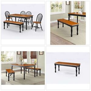 Fine Details About Decorative Autumn Lane Wooden Dining Bench Kitchen Long Chair Solid Wood Seats Pabps2019 Chair Design Images Pabps2019Com