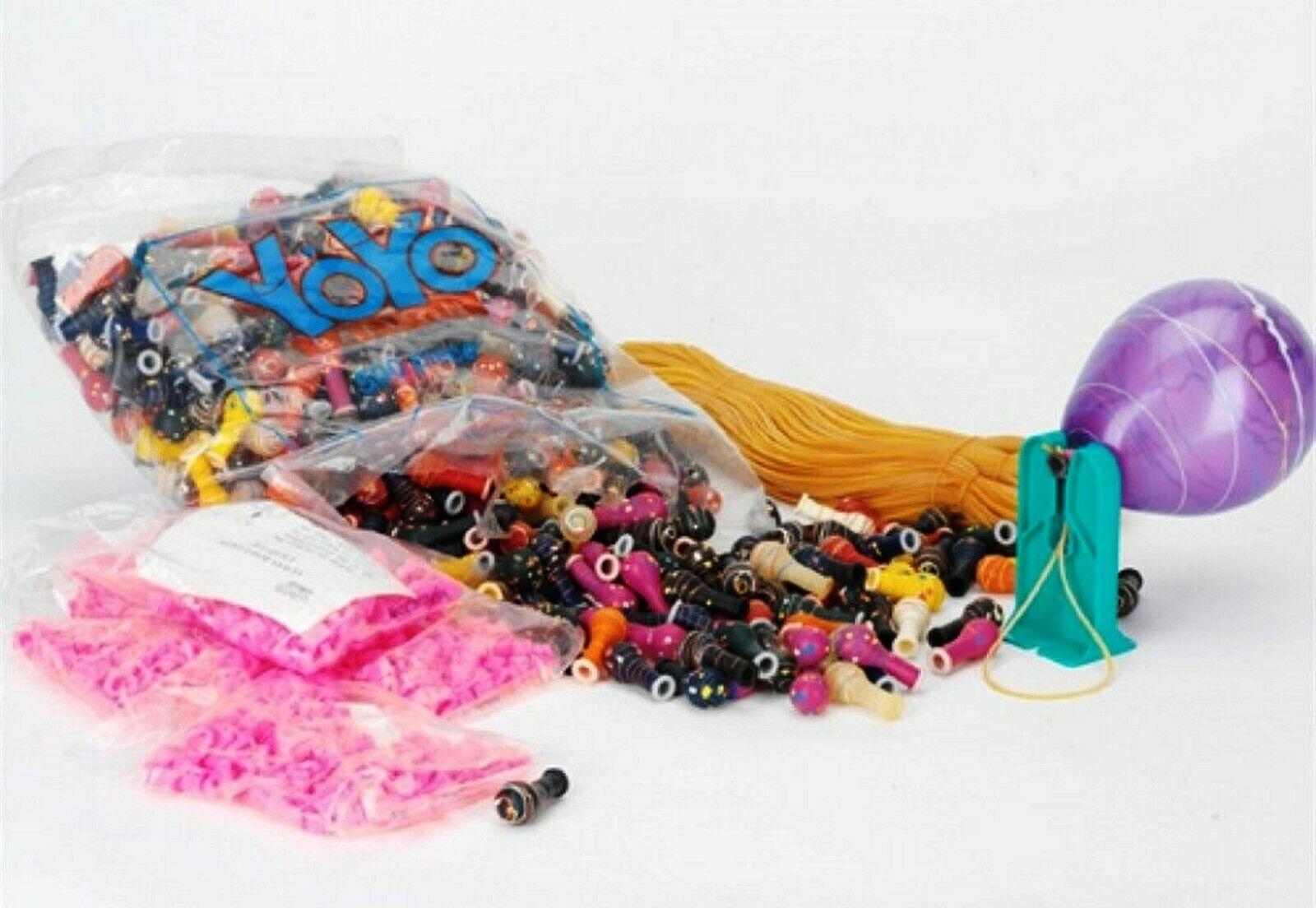 Large Bag Of 500 Yoyo Balloons W clip Elastic And Fixtures japan