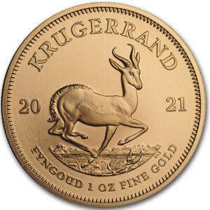 Goldmünze Krügerrand 2021 1 oz Das Original Südafrika in Stempelglanz