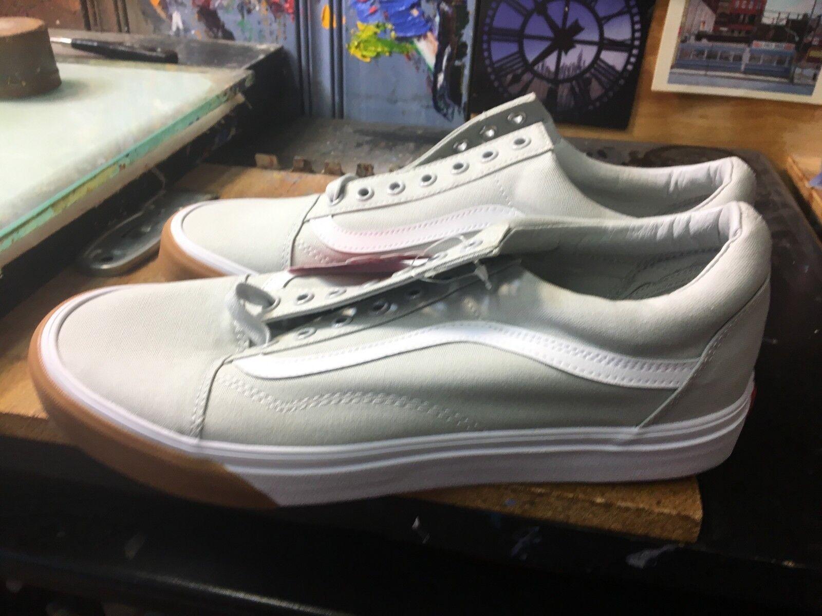 Vans Old Skool (Gum Bumper) Glacier Grey  White Size US 11.5 Men's  VN0A38G1QR5