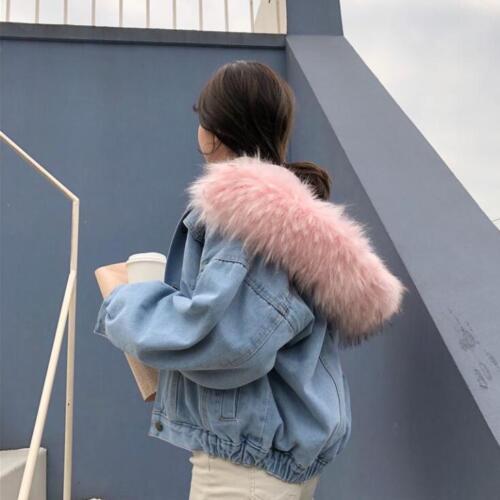 capuchon double d'hiver à épaisseur à col pour en en denim femmes Manteau fourrure bt0 manteaux txwqnp01t7