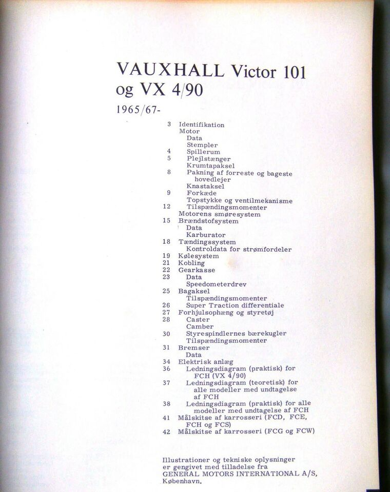 Reparations Håndbog., Vauxhall 101, VX 4-90.
