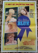 BLUE RIBBON BLUE Original Adult Film Poster Seka Lisa De Leeuw Veronica Hart