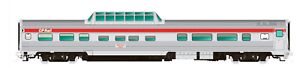 RAPIDO-1-87-HO-C-P-RAIL-ACTION-RED-BUDD-MID-TRAIN-DOME-CAR-510-1160020-F-S