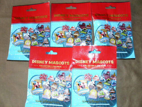 Disney NEW 5-pin Collectible Mystery Pack Pins 5 PACKS MASCOTS