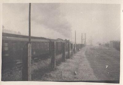 Orig. Foto Fahrender Zug 2.wk 6x8,5cm (af184)