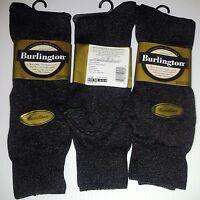 Burlington Dress Microfiber Crew Sock, Slate Heather 6pr - $19.99 +free Shipping