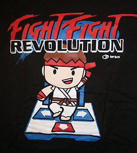 Street Fighter Video Game Ryu Fight Fight Dance Revolution Womens Large Shirt Ebay