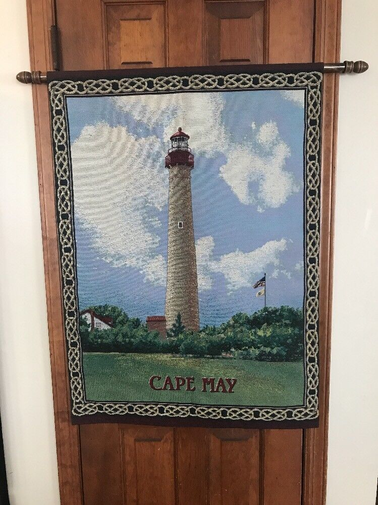 Mill Street Design Wall Hanging Tapestry Cape May New Jersey Light House 25 x 35