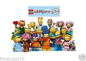 LEGO Minifigures Simpsons Serie 2 scegli il tuo Fuori Nuovo di Zecca Borsa