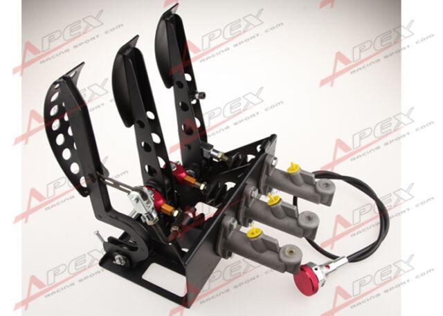Adjustable Race Rally Hydraulic Clutch Brake Bias Pedal Box Assembly