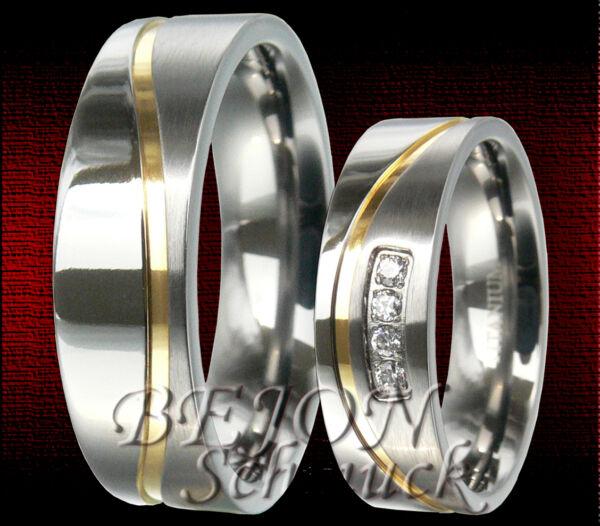 *neu* 2 Titan Ringe 6mm Eheringe Trauringe Partnerringe Hochzeitsringe *tr-24-f* Jahre Lang StöRungsfreien Service GewäHrleisten