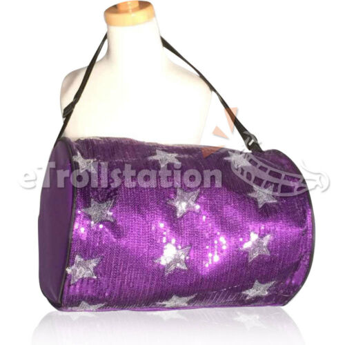 Stylish Girls Dance Duffle Bag Gymnastics Cheer Sequin Stars 5 Color Option NEW