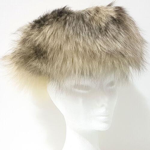 2 di 5 Cappello Pelliccia VOLPE Pelo Lungo TGL 54 bianco panna e castano  colbacco G157 c227272c90d3