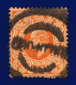 1909-SG241-4d-Orange-Red-M25-3-Good-Used-Cat-20-cvba