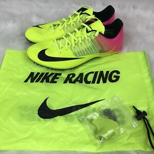 Details about NEW NIKE Zoom Celar 5 Running schuhe OC Spikes 882023 999 Volt Pink Mens Sz 12