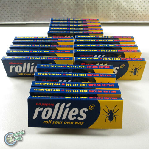 20x 60 ROLLIES Tobacco Cigarette Rolling Roller Filter Filters Paper Papers