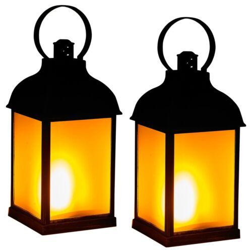Nero di plastica decorativi da appendere Haven Antico Dancing LANTERNA LED effetto fiamma