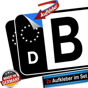 2x-Kennzeichen-Aufkleber-EU-Feld-schwarz-Tuning-hochwertig-Nummernschild-Sticker