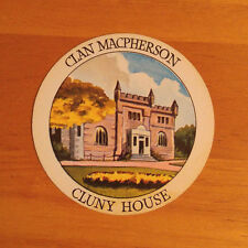 1955 Teacher's Highland Cream Scotch Whisky Clan MacPherson Cluny House Card