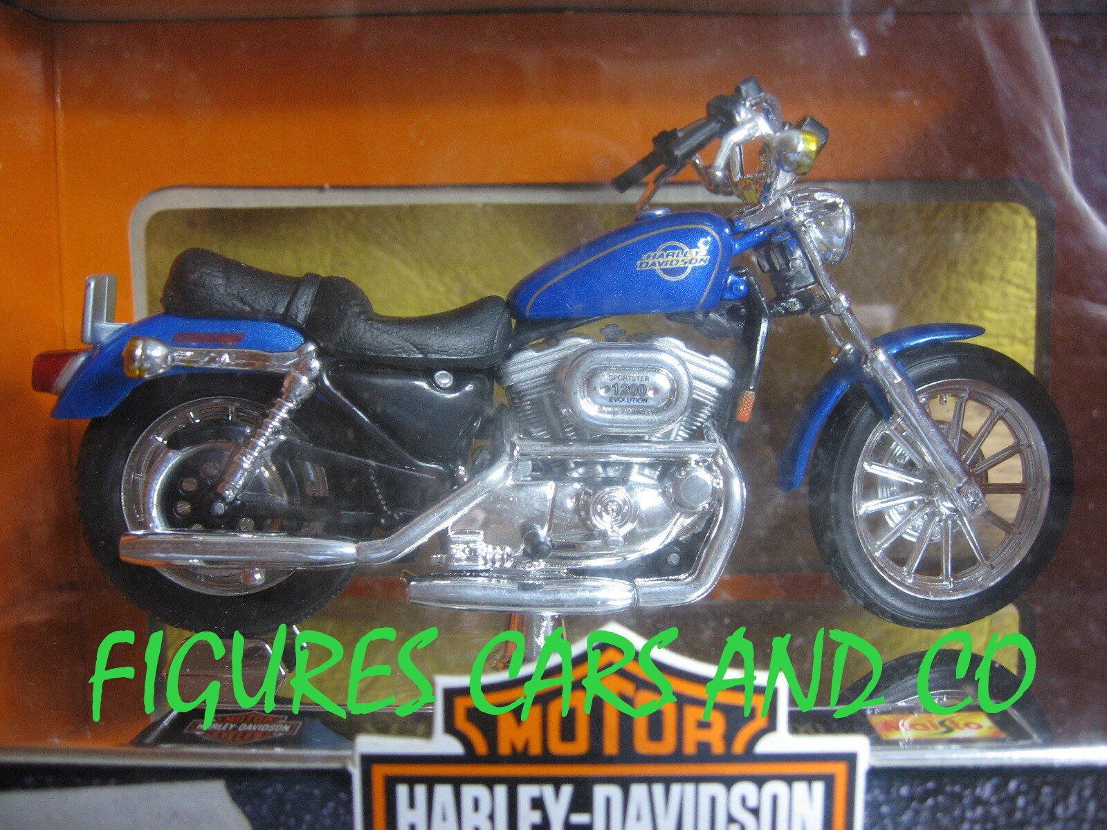 MOTO 1 18  HARLEY DAVIDSON XLH 1200 1200 1200 SPORTSTER BOITE MAISTO  100% a estrenar con calidad original.