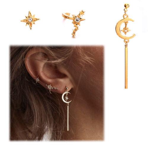 or oreille étalon boucle d/'oreille ensemble rationalisé tassel star lune