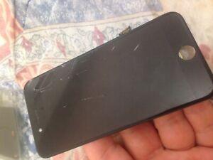 Pantalla-de-iPhone-7-Negro-Original-vidrio-roto-danado-LCD-de-trabajo