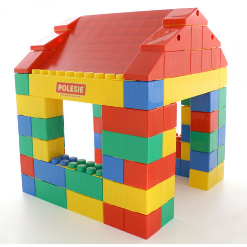 WADER Haus aus XXL Bausteine 134-tlg Bauklötze Set Bauklötze Riesen Spielbausteine