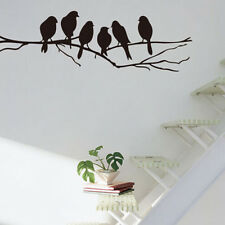 Black Bird Tree Branch Removable Wall Decal stickers Art Home Mural Decor Vinyl