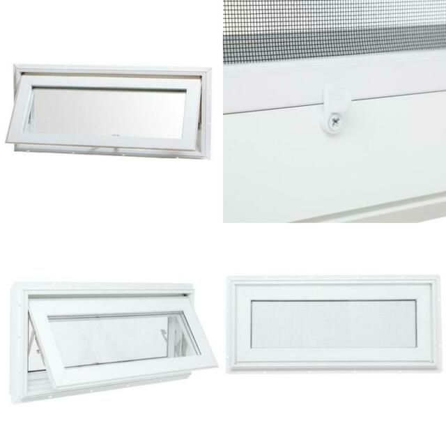 TAFCO WINDOWS 32 in. x 14 in. Top Hinge Awning Vinyl ...