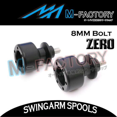 Rear ZERO 8mm Swingarm Sliders Spools Kit Fit Suzuki GSXR 600 750 Hayabusa SV650