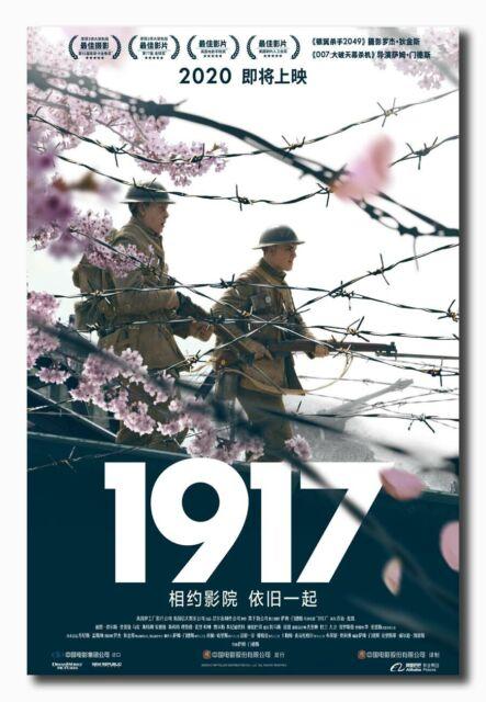 Art Decor 1917 Movie Poster 2020 Sam Mendes 40 24x36 Fabric Print 1661